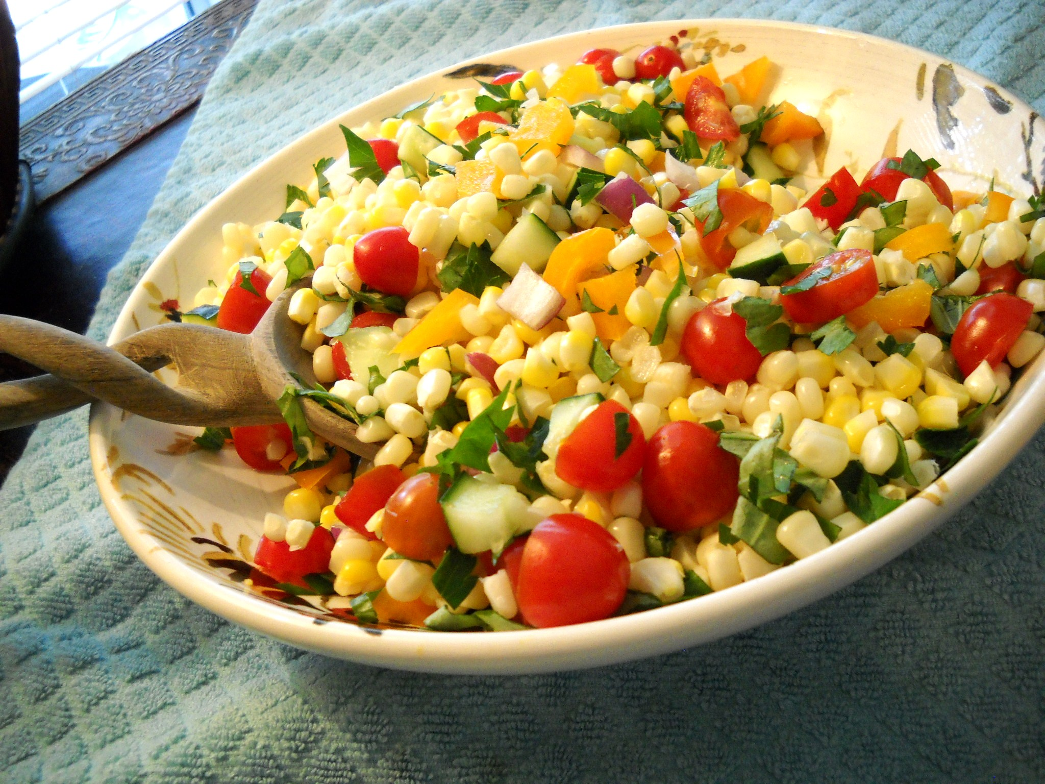 Fresh Corn Salad (adapted from BHG )