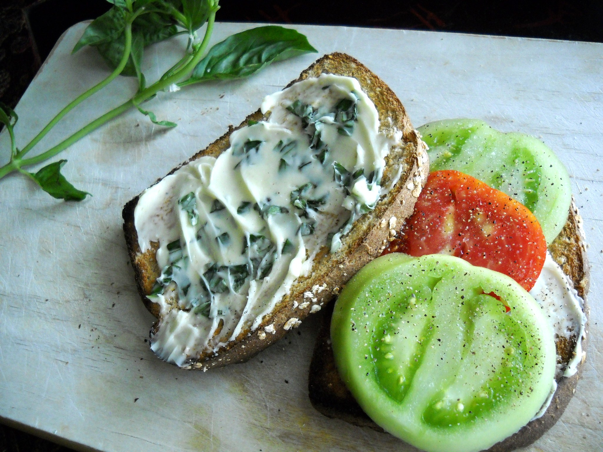 Tomato Toast With Basil Butter Recipes — Dishmaps