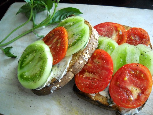 Tomato Toast with Basil Butter + Office Photos | Harvest Fare